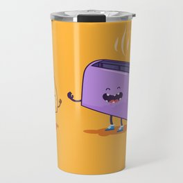 Best friends (Bread and toaster. Character set.) Travel Mug