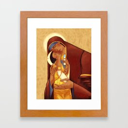 Theotokos with Christ Framed Art Print