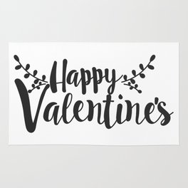 Hand Lettering Happy Valentines Rug