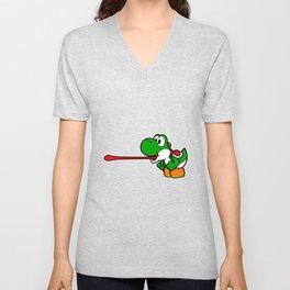 Yoshi super mario Unisex V-Neck