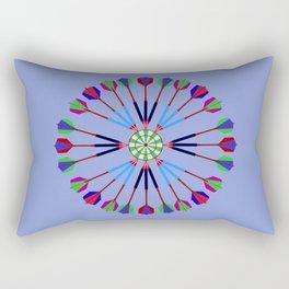Game of Darts Design Rectangular Pillow