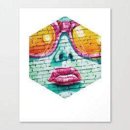 Graffiti Beauty - Geometric Photography Canvas Print