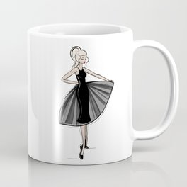 Little Black Panel Dress Coffee Mug