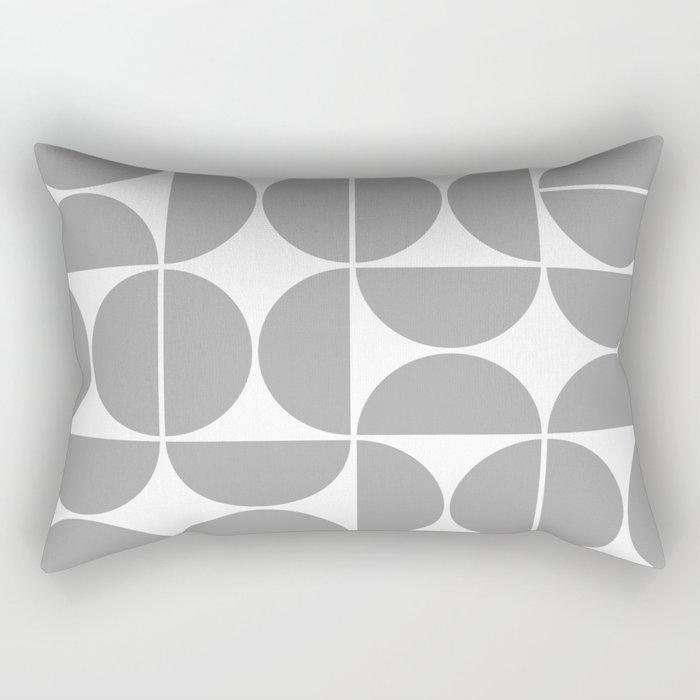 Mid Century Modern Geometric 04 Grey Rectangular Pillow