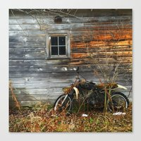 motorcycle Canvas Prints featuring Motorcycle by Flosauro