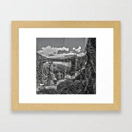 Bear Lake collage Framed Art Print