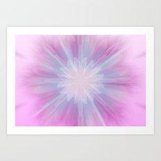Pink Star Kaleidoscope Art Print