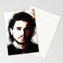Portrait of Kit Harrington Stationery Cards