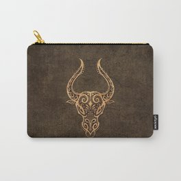 Vintage Rustic Taurus Zodiac Sign Carry-All Pouch