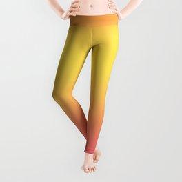Ombre Anjo Raspberry Gold Gradient Leggings
