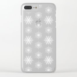 Frosty Snowflakes Clear iPhone Case