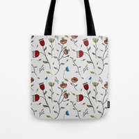 spice Tote Bags featuring Floral Spice by Itaya Art