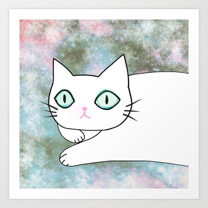 cat 614 Art Print