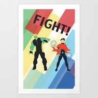 fight Art Prints featuring FIGHT! by Lena Lang