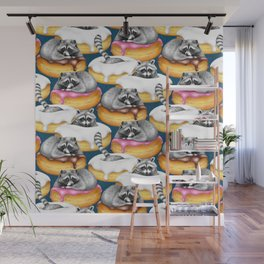 Food Fantasy of a Trash Panda Wall Mural