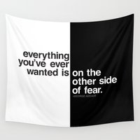 fear Wall Tapestries featuring Fear by MLauxDesign