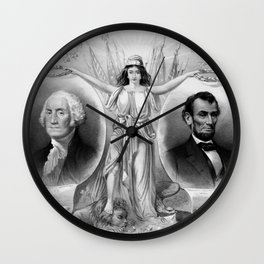 Washington and Lincoln Wall Clock