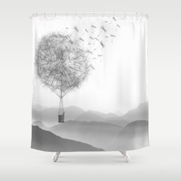 Dandelion Sketch Shower Curtain