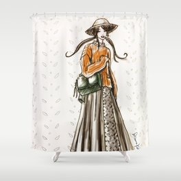 Cozy country walk Shower Curtain