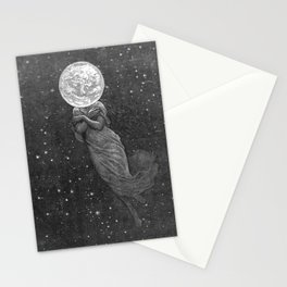 Moon Head Stationery Cards