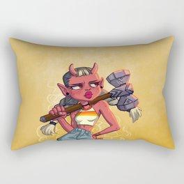 Oni Warrior Rectangular Pillow