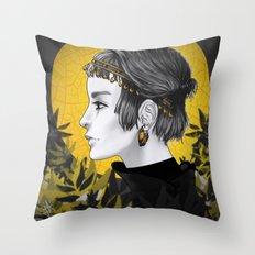 Sunny Grey Throw Pillow