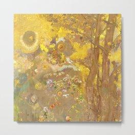 "Odilon Redon ""Trees on a yellow Background"" Metal Print"
