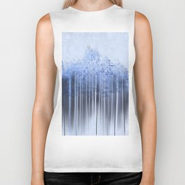 Shredded Abstract in Blue Biker Tank