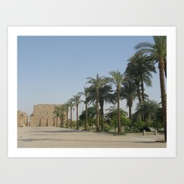 Temple of Karnak at Egypt, no. 3 Art Print