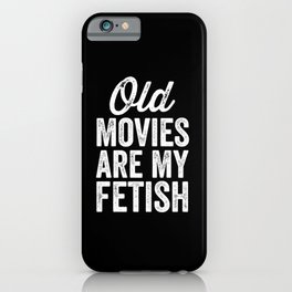 Old Movies iPhone Case