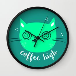 High Kitty Wall Clock