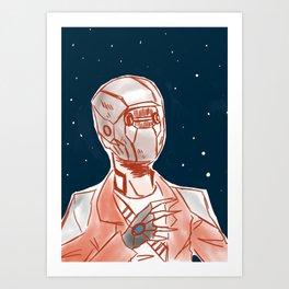 Beyond space mercenary Art Print