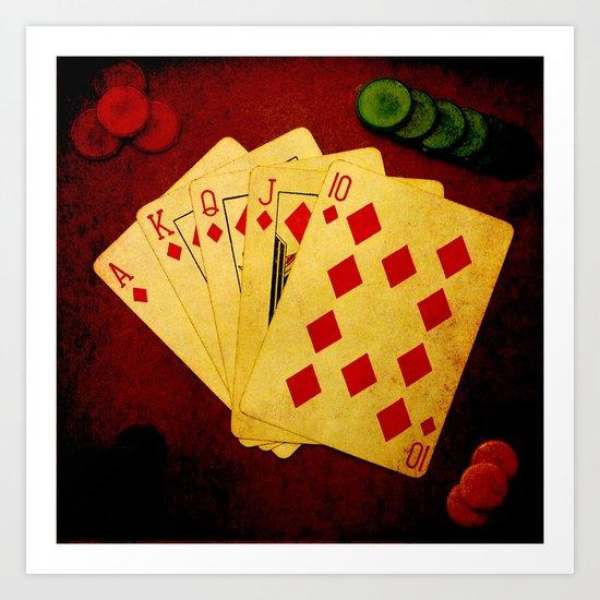 Escalera Real de Carro (Dirty Poker) Art Print