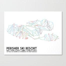Perisher, NSW, Australia - Minimalist Trail Maps Canvas Print
