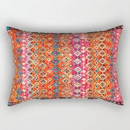 Bohemian Traditional Tropical Moroccan Style Illustration Rectangular Pillow