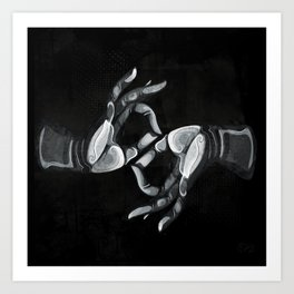 Lotus Hands II Art Print