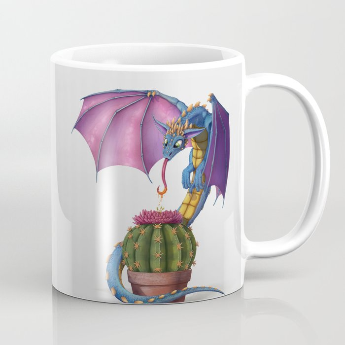 Cactus-flower Dragon Coffee Mug