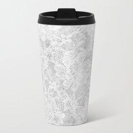 White Lace Travel Mug