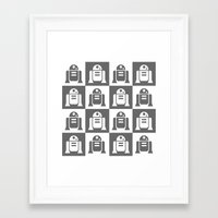 r2d2 Framed Art Prints featuring R2D2 by eARTh