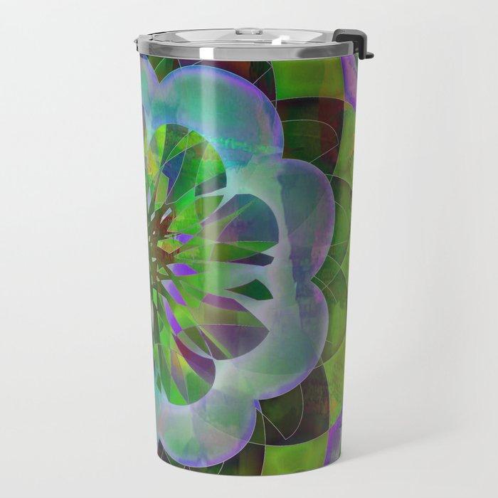 Purple & Green Spiro Travel Mug