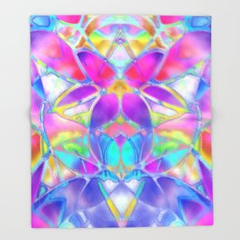 Floral Fractal Art G307 Throw Blanket