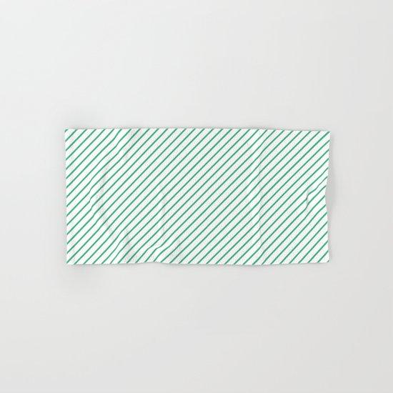 Diagonal Lines (Mint/White) Hand & Bath Towel