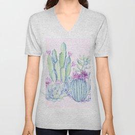 Mixed Cacti Pink #society6 #buyart Unisex V-Neck