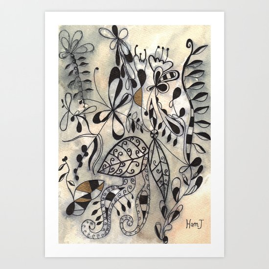 Nature's Yin Yang Art Print