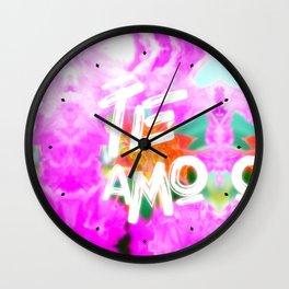 Pink crapemyrtle flower Wall Clock