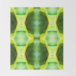 93 - Hosta plant abstract pattern Throw Blanket