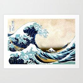 Kanagawa Oiled Kunstdrucke