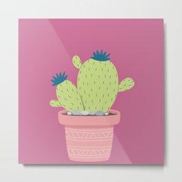 Cactus succulents Nature Plants Metal Print