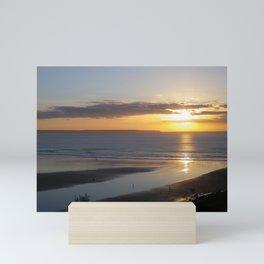 SAUNTON SANDS BEACH SUNSET DEVON Mini Art Print