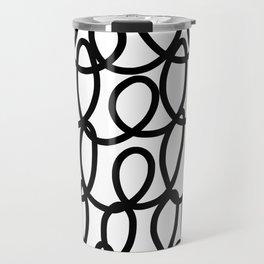 Loop the Loop / Black on white Travel Mug